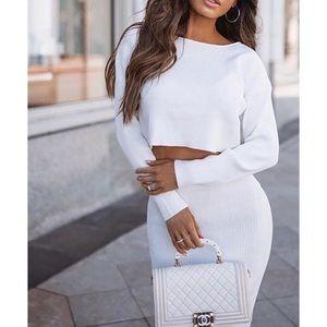 Fashion Nova Sweater Skirt Matching Set